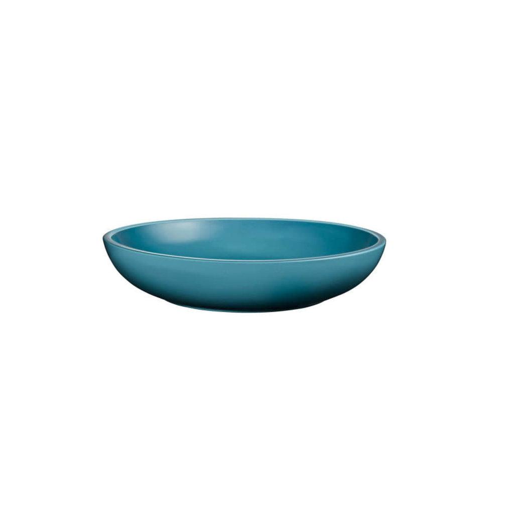 LE CREUSET Set 4 Pc 22 Cm Coupe Pasta Bowls Caribbean