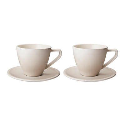LE CREUSET Set 2 Pc .2 L Cappuccino Cup/Saucer Meringue
