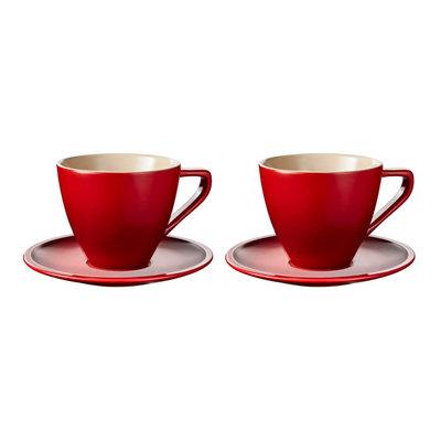 LE CREUSET Ens 2 Pc 0,2 L Tasses Cappuccino Cerise