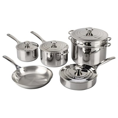 LE CREUSET Signature Set 10 Pc Stainless Steel