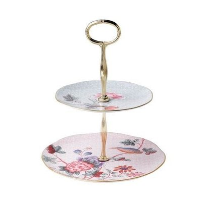WEDGWOOD Cuckoo Cake Stand Two-Tier