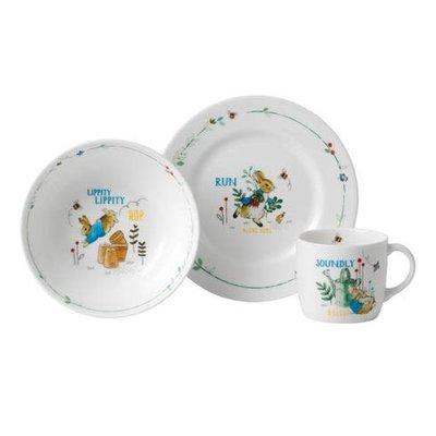 WEDGWOOD Peter Rabbit Boy's 3-Piece Set (Plate, Bowl & Mug)