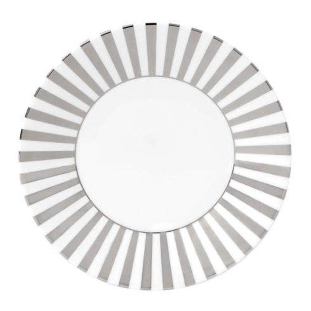 "WEDGWOOD Jasper Conran Platinum Accent Salad Plate 9"" Striped"