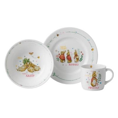 WEDGWOOD Peter Rabbit Girl's 3-Piece Set (Plate, Bowl & Mug)