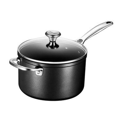 LE CREUSET Toughened Nonstick 3.8 L Saucepan W Hh And Lid