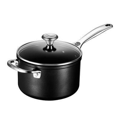 LE CREUSET Toughened Nonstick 2.8 L Saucepan W Hh And Lid