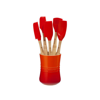 LE CREUSET Revolution Set 6 Pc Utensil Flame