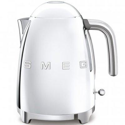 SMEG Kettle Fixed Temp 50'S Style Chrome, 3D Logo