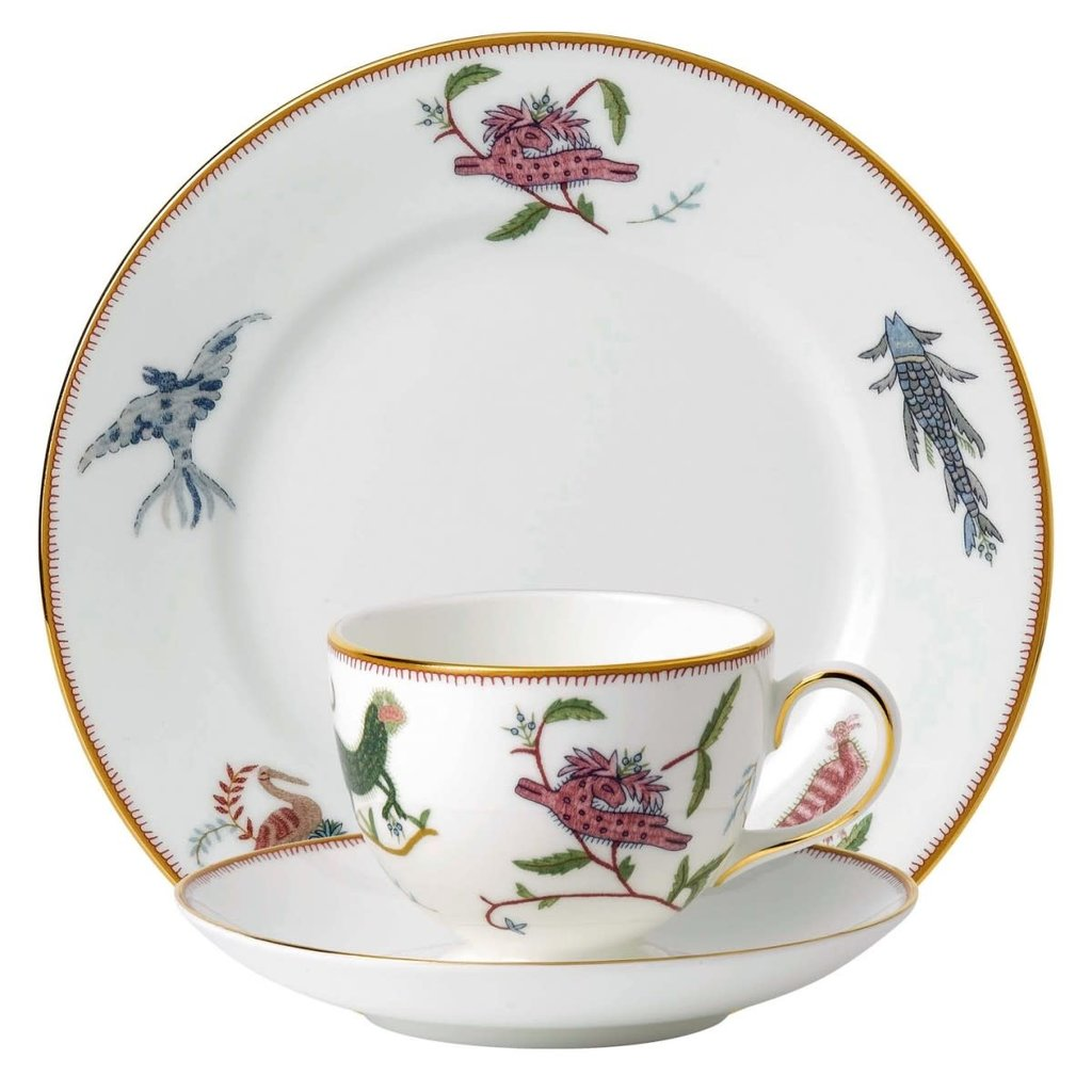"WEDGWOOD Prestige Mythical Creatures 3-Piece Set (Teacup, Saucer & Plate 8"")"