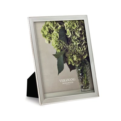 "WEDGWOOD Vera Wang With Love Nouveau Frame 8X10"" Silver"