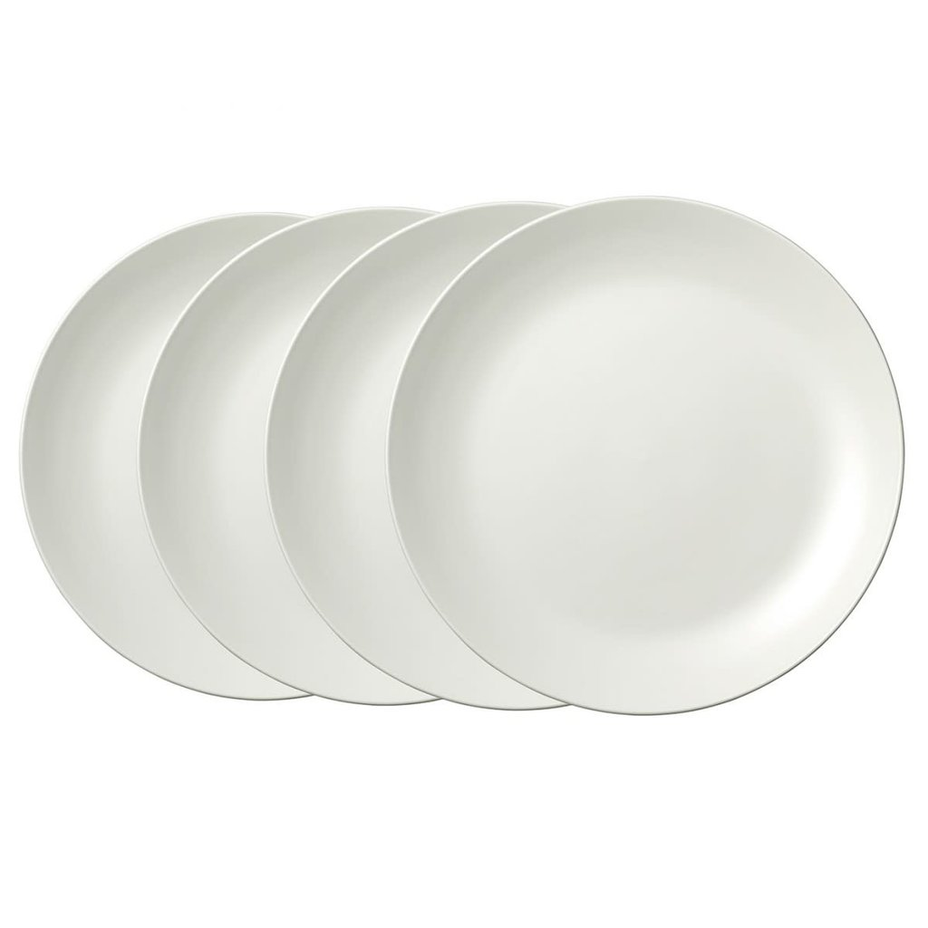 "WEDGWOOD Vera Wang Vera Perfect Blanc Assiette de Dîner 10.75"" Ensemble de 4"