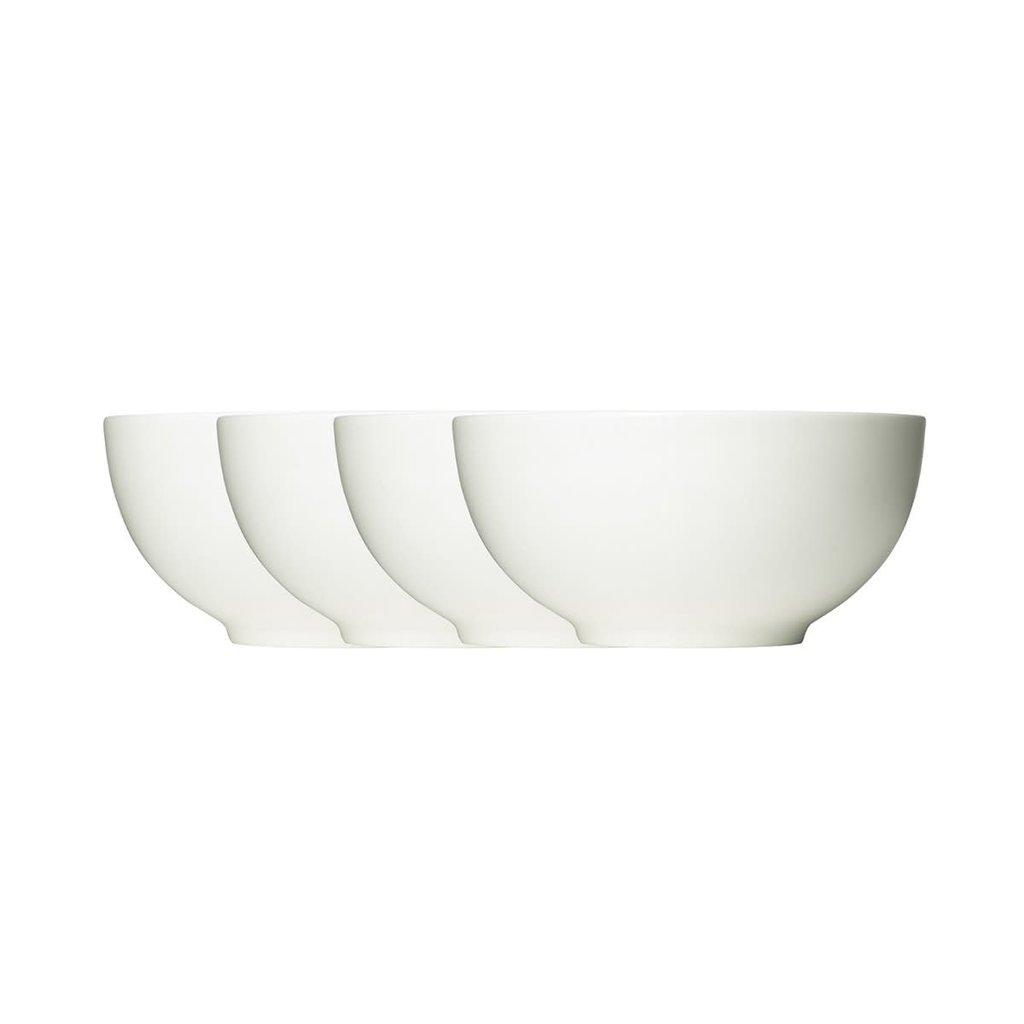 """WEDGWOOD Vera Wang Vera Perfect White Soup/Cereal Bowl 6"""" Set/4"""