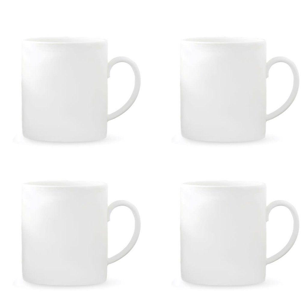 WEDGWOOD Vera Wang Vera Perfect White Mug 15 Oz Set/4