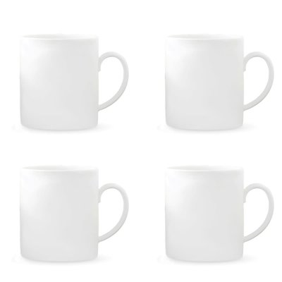 WEDGWOOD Vera Wang Vera Perfect Blanc Tasse 15 Oz Ensemble de 4