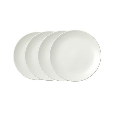 "WEDGWOOD Vera Wang Vera Perfect Blanc Assiette de Salade 8"" Ensemble de 4"