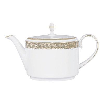 WEDGWOOD Vera Wang Vera Lace Gold Teapot 1.4 Ltr/47.3 Oz