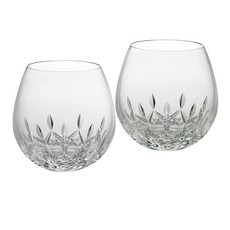 WATERFORD Lismore Nouveau Stemless Wine Light Red 12 Oz Set/2