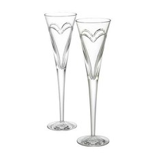 """WATERFORD Wishes """"Love & Romance"""" Flute pour Toast Paire"""