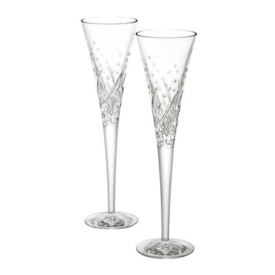 """WATERFORD Wishes """"Happy Celebrations"""" Flute pour Toast Paire"""