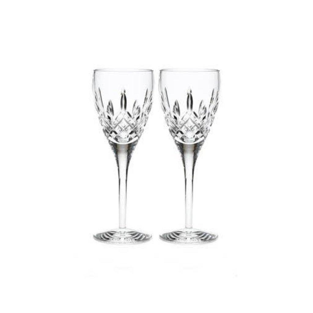 WATERFORD Lismore Nouveau Blanc Wine 9 Oz Ensemble/2