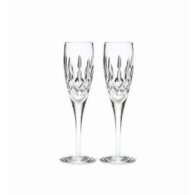 WATERFORD Lismore Nouveau Champagne Flute 7 Oz Set/2