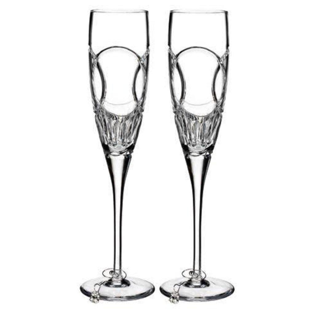 WATERFORD Love Wedding Vows Flute Pair