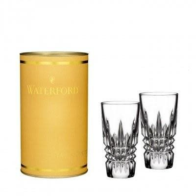 WATERFORD Giftology Lismore Diamond Shot Glass 2 Oz Set/2 (Canary Tube)