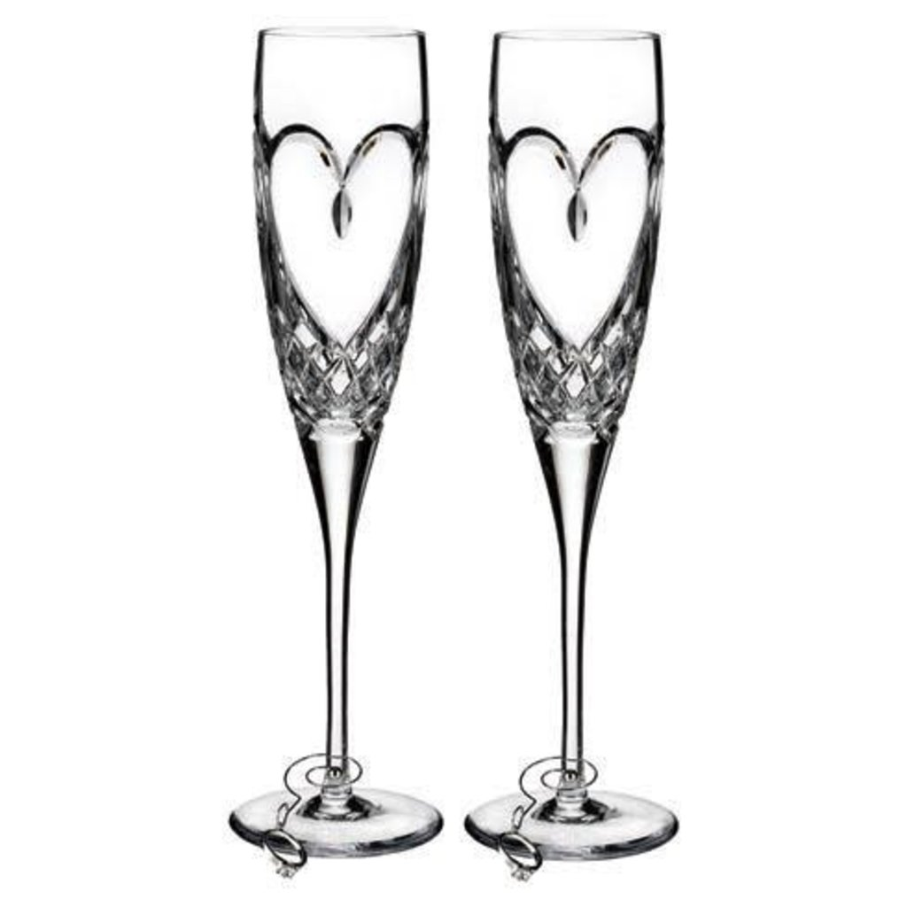 WATERFORD Love True Amour Flute Pair