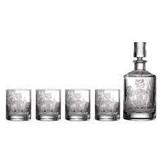 WATERFORD Crest Decanter & Tumbler Set/4