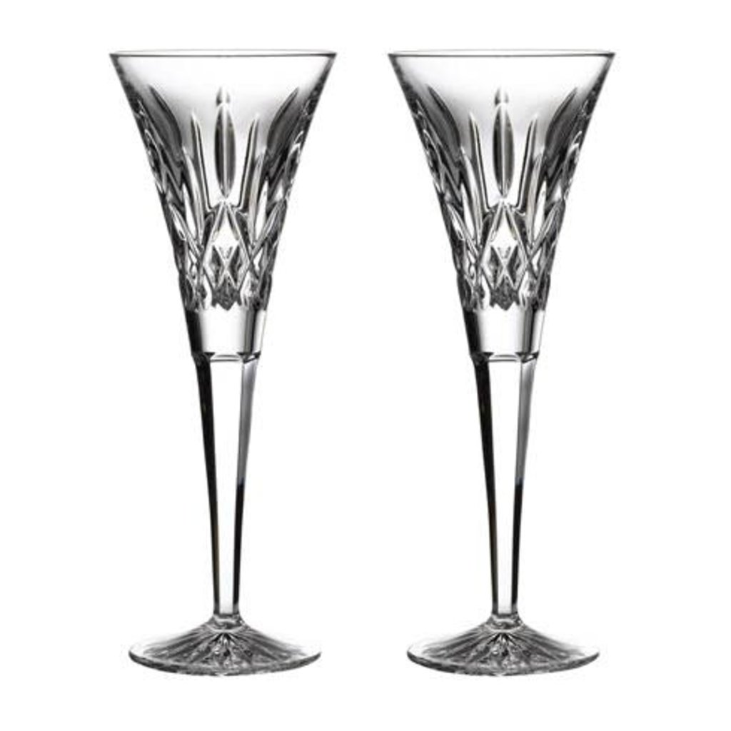 WATERFORD Lismore Flute pour Toast Paire