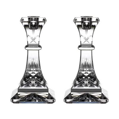 """WATERFORD Lismore Candlestick 6"""" Pair"""