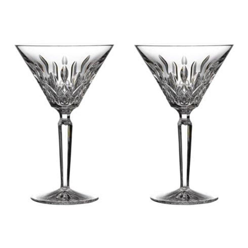 WATERFORD Lismore Martini 4 Oz Ensemble de 2