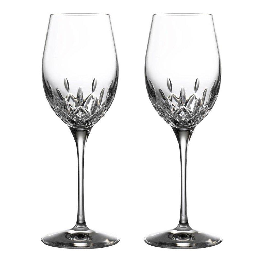 WATERFORD Lismore Essence Vin Blanc 14 Oz Ensemble de 2