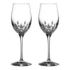 WATERFORD Lismore Essence White Wine 14 Oz Set/2