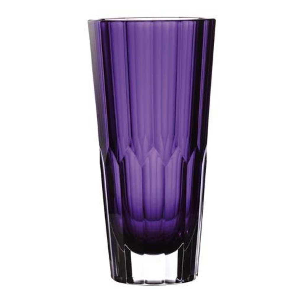 """WATERFORD Icon Vase 12"""" Améthyste"""