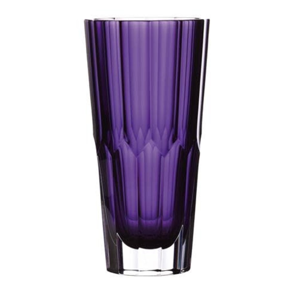 "WATERFORD Icon Vase 10"" Améthyste"