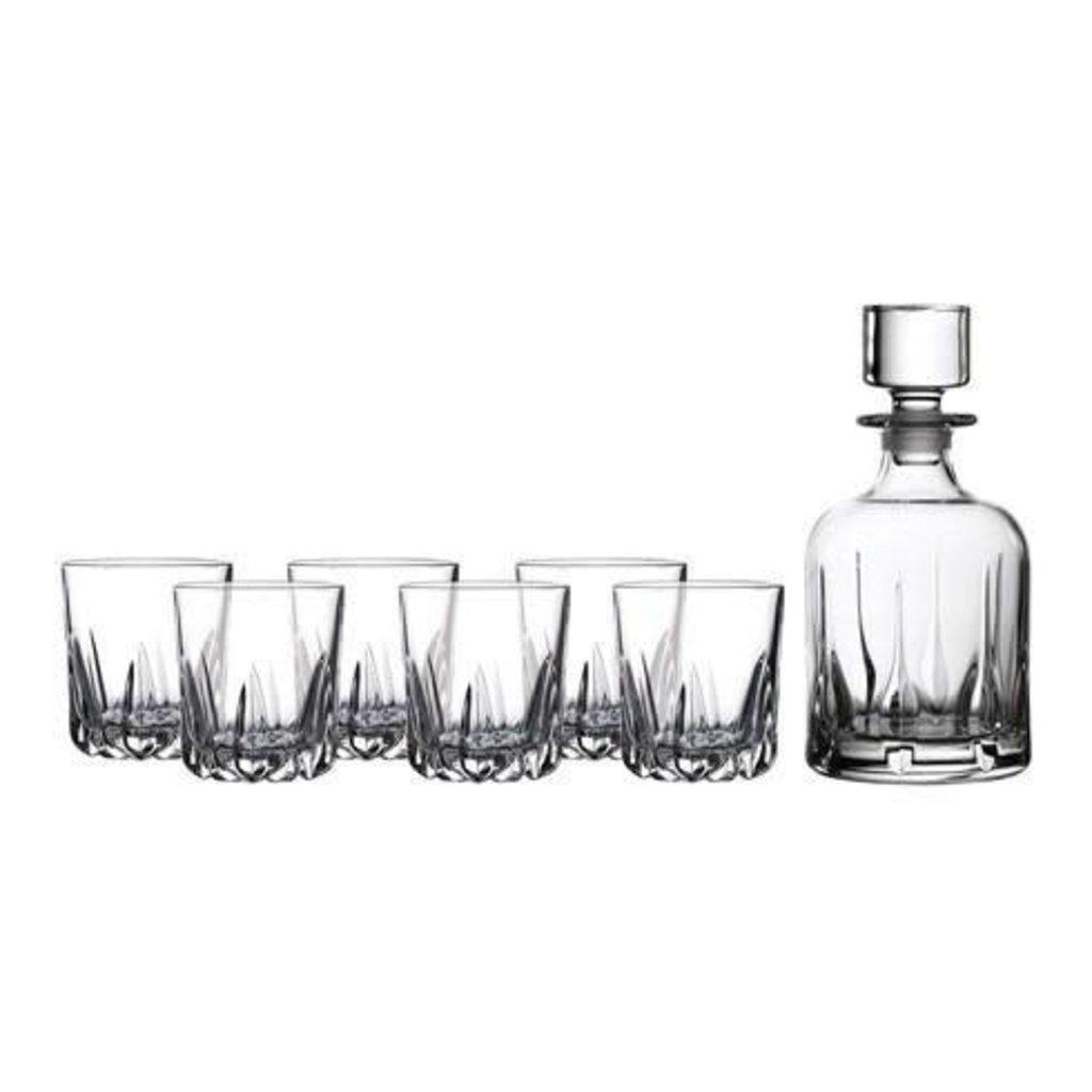 ROYAL DOULTON Decanter Sets Mode Whiskey Decanter 30 Oz With Tumbler 10 Oz Set/6
