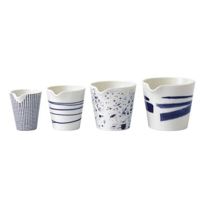 "ROYAL DOULTON Pacific Mixed Patterns Nesting Jugs Set/4 (2.8"", 3.0"", 3.3"" & 3.4"")"