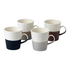 ROYAL DOULTON Coffee Studio Mug Grande 19 Oz Set/4 Mixed Colors