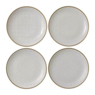 "ROYAL DOULTON Maze Grill White Salad Plate 9"" Set/4 Mixed"