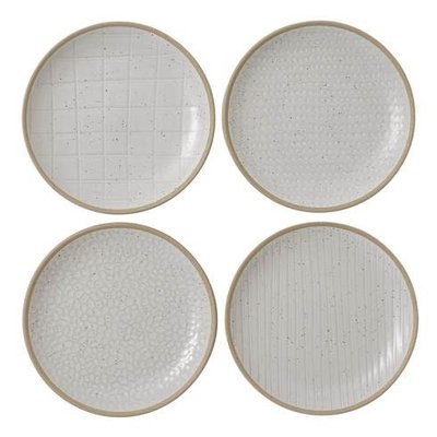 "ROYAL DOULTON Maze Grill White Plate 6"" Set/4 Mixed"