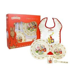 ROYAL DOULTON Bunnykins Melamine 5-Piece Set (Bowl, Cup, Plate, Spoon & Bib)