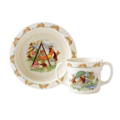 ROYAL DOULTON Bunnykins 2-Piece Baby Set (Bowl & Two Handled Mug)