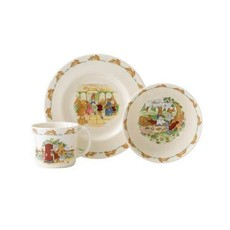 ROYAL DOULTON Bunnykins 3-Piece Childrens Set (Bowl, Plate & One Handled Mug)