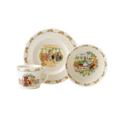 ROYAL DOULTON Bunnykins 3-Piece Childrens Set (Bowl, Plate & One Handled Mug)