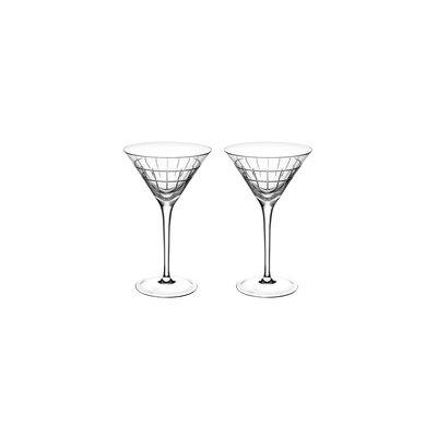 CHRISTOFLE Graphik Coffret De 2 Verres À Martini En Cristal 5 5/7'' - 3 Oz