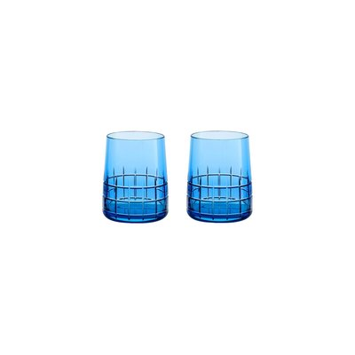 CHRISTOFLE Set 2 Gobelets Blue Graphik