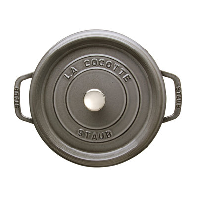 STAUB Cocotte Round 3.8L Grey