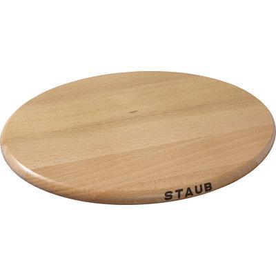 "STAUB 11.5"" Oval Wooden Trivet"