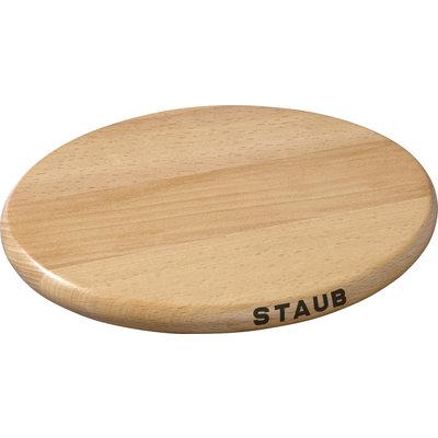 "STAUB 8.25"" Oval Wooden Trivet"